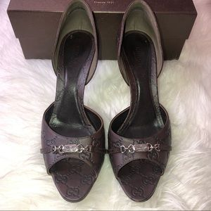 👠 GUCCI Guccissima Soft Chocolate Heels 41 11